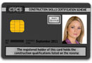 Black Bricklaying CSCS Card