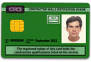 Green Bricklaying CSCS Card